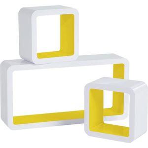 16 mm-Bois-Jaune En blanc cube