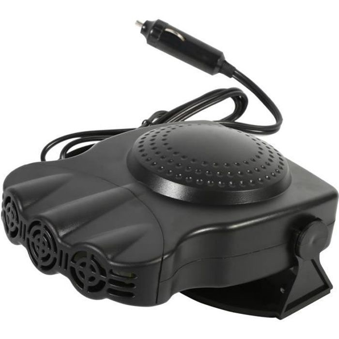 Ventilateur de chauffage dégivreur de pare-brise de véhicule de voiture 2V 150W 17,7 x 12,6 x 8 cm Noir -HEN
