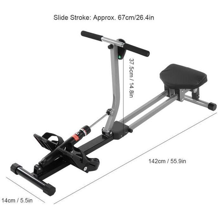 Rameur d'appartement - Pour fitness et cardio training - Ecran LCD multifonction HB041 -COO