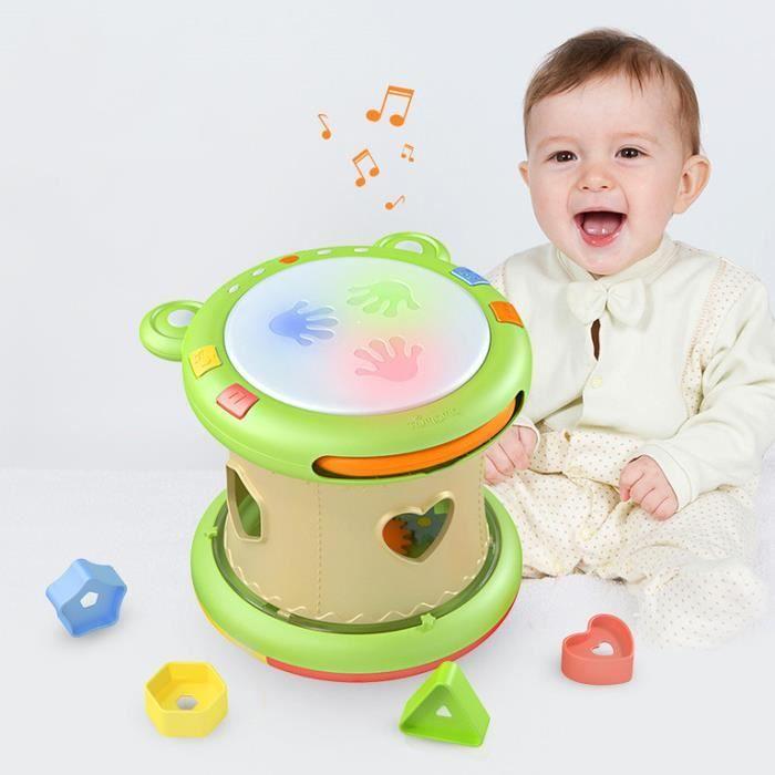 Jouets musicaux bébé Tambourin Instruments de musique pour enfants tapotant tambour jouets pour bébé 6-12 mois jouets éducatifs