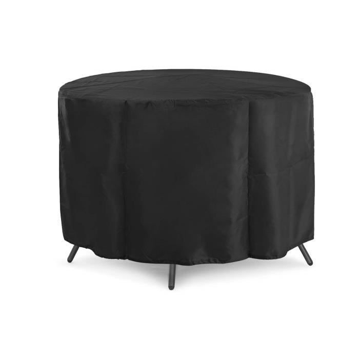 Bashley 420D Housse Table de Jardin,Housse Salon de Jardin,Housse de Protection pour Table de Jardin,Oxford Tissu Imperméable Res