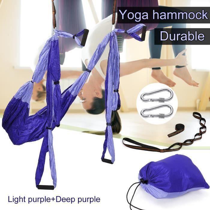 Hamac De Yoga Aérien Kits Balançoire De Yoga Exercices Inversés VIOLET