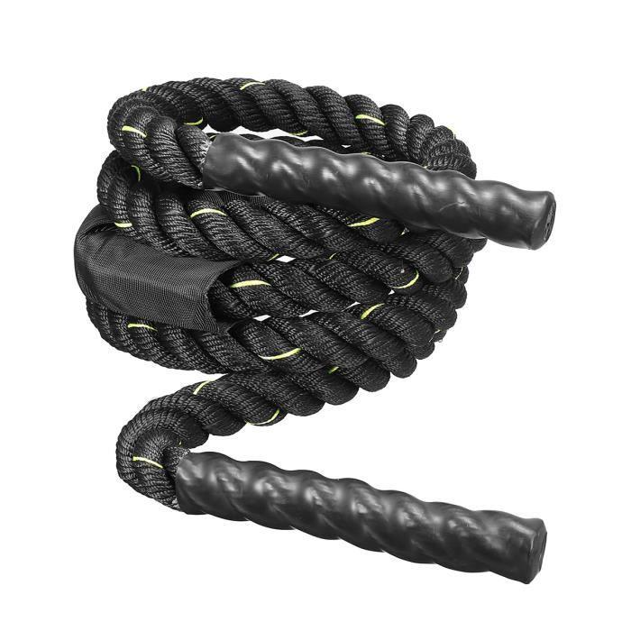 Corde à Sauter Corde de Combat d'entraînement pour Hommes Femmes 3 mètres 25mm