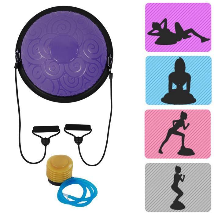 Ballon de yoga Ball ballon d'équilibre Fitness Gym Yoga Balance Ballon d'Exercice demi-boule d'équilibrage antidéflagrant