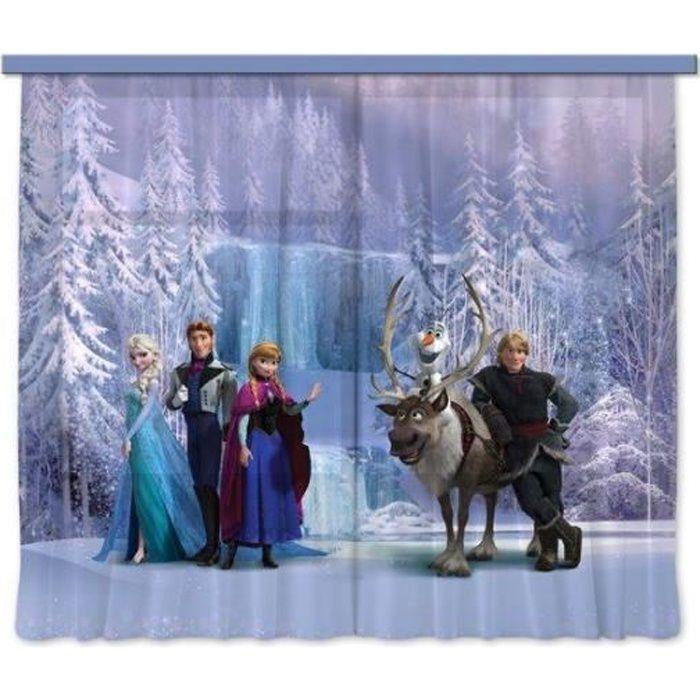 Disney Frozen La reine des neiges Rideau Voilage pour la Chambre