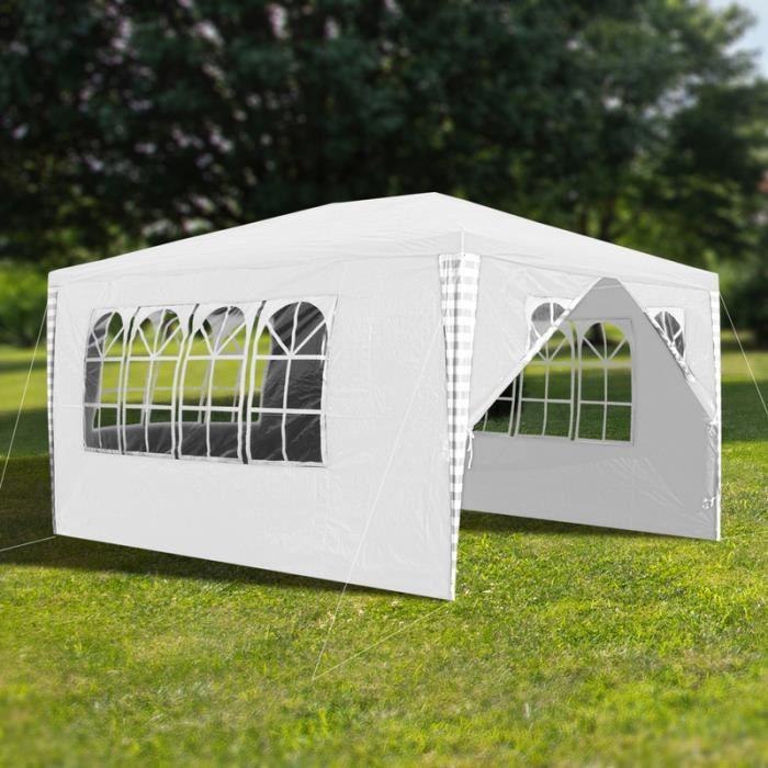 Hengda 3x4m Jardin Tonnelle étanche Jardin Camping Stable tente tubes d'acier stable de haute qualité avec 3 parties latérales et
