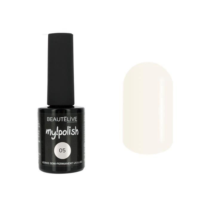 Beautélive Vernis à ongles semi permanent 05 - Suprême white , 15ml Ongle