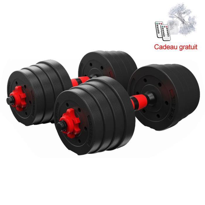 BESPORTBLE Set d'haltères 30 kg avec barre