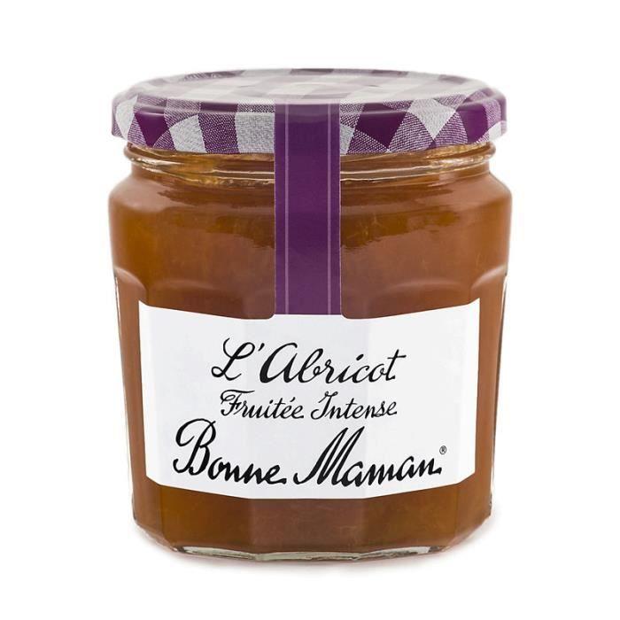 BONNE MAMAN Confiture fruitée intense - L'Abricot 340g