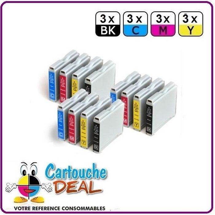 3+9 BROTHER DCP 350C 353C 357C 535CN 540CN 560CN Cartouche générique compatible