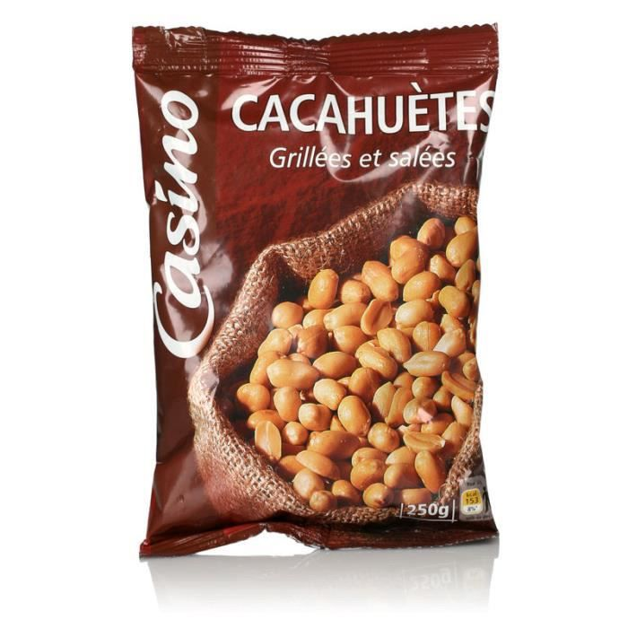 CASINO Cacahuètes grillées et salées - 250 g