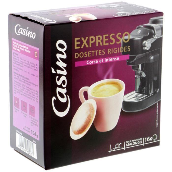 CASINO Café moulu en dossettes rigides Expresso - 16x 104 g