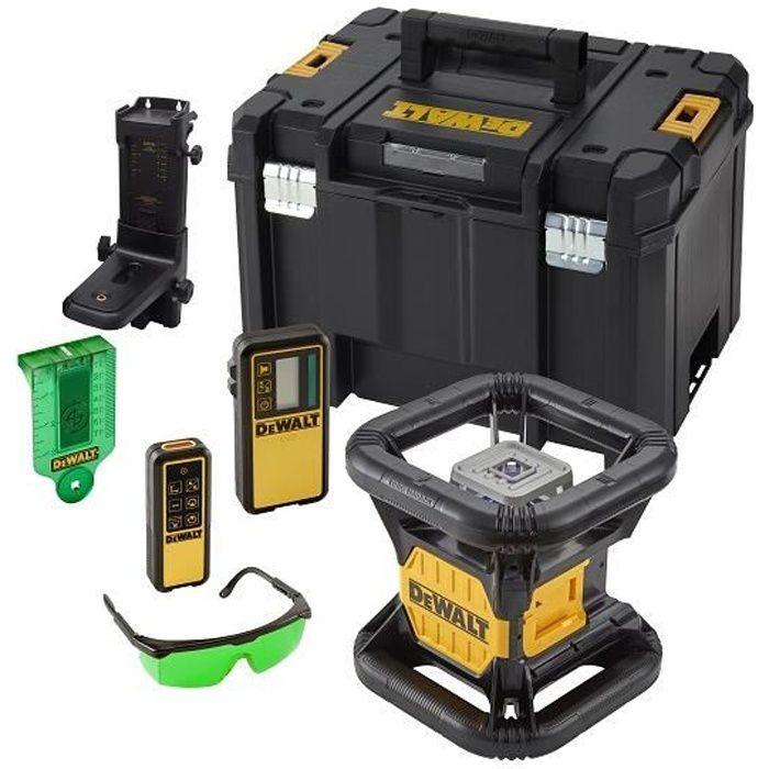 Niveau laser rotatif double pente intérieur/extérieur 18V - Faisceux vert / sans batterie ni chargeur DEWALT DCE079NG