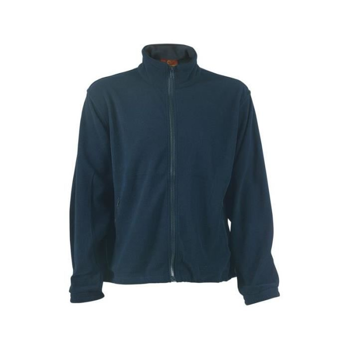 Pull polaire polyester 100 % 340 grs bleu taille xxl