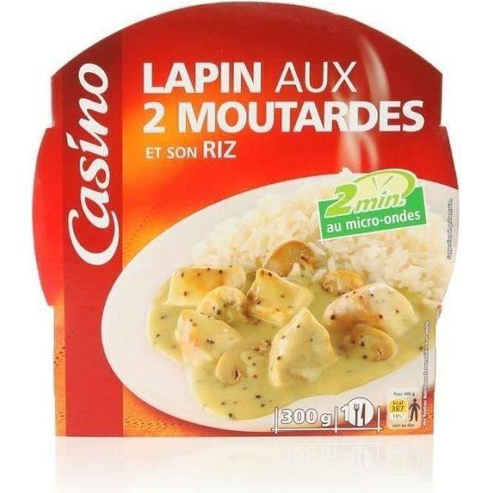 CASINO Lapin aux 2 Moutardes et son Riz 300g