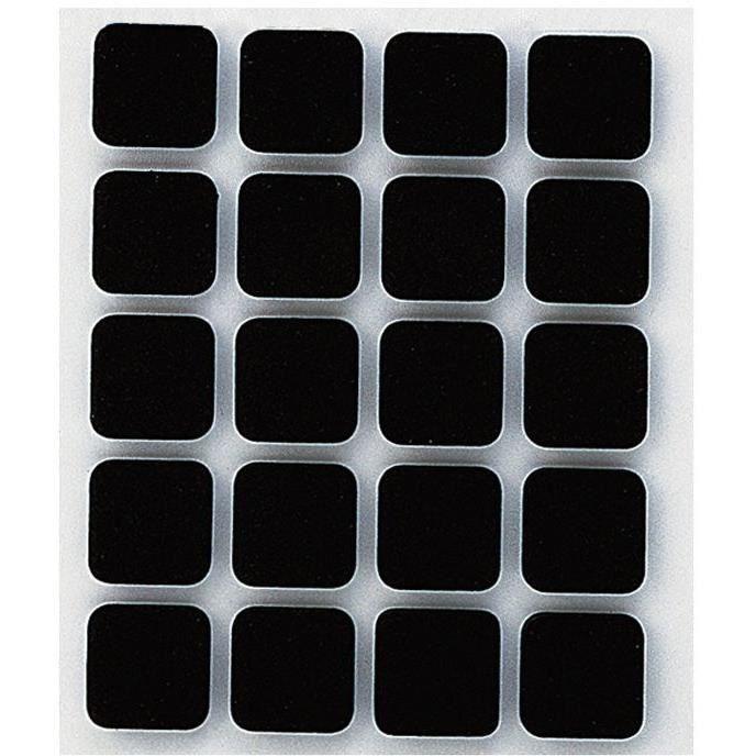 INOFIX - Anti-dérapant Adhésif 17x17mm noir par 20 en blister