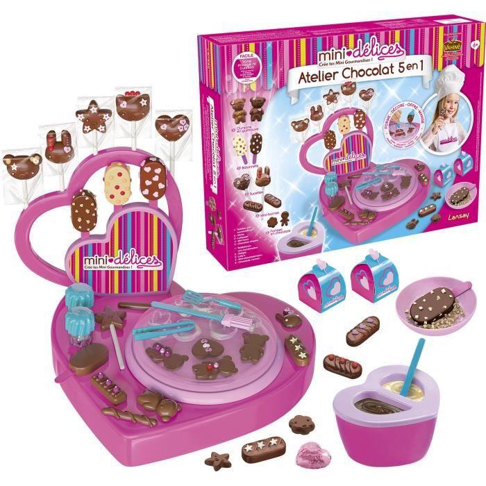 LANSAY Mini délices Jeu de cuisine Mon super atelier Chocolat 5 en 1 - Fille - À partir de 6 ans