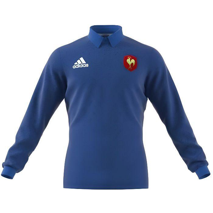 Polo rugby XV de France 2017/2018 adulte - Adidas
