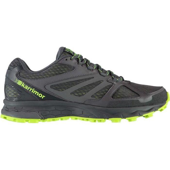 Hommes Trail Chaussures De Course À Pied Gris/vert