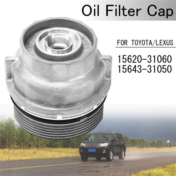 LAVENT Capot bouchon de filtre à huile pour Toyota Lexus OEM 15620-31060 15643-31050