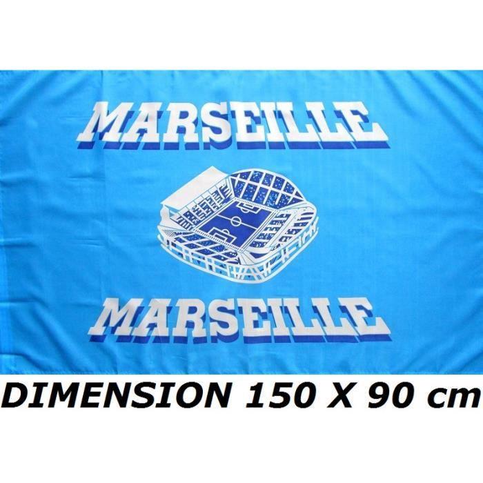 DRAEAU 150 X 90 cm MARSEILLE OM -Stade Vélodrome- No Fanion Maillot écharpe Casquette ...