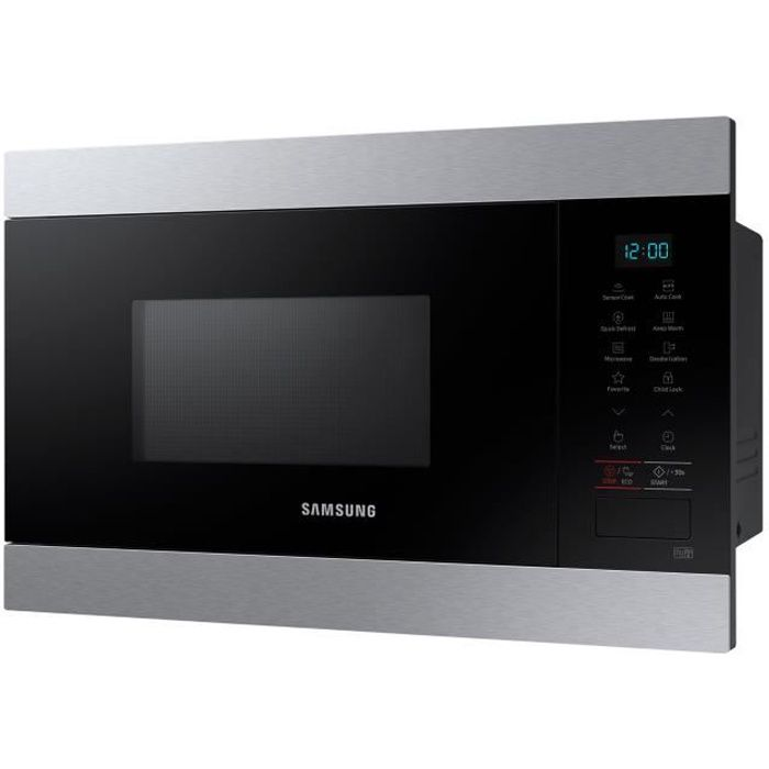 Samsung MS22M8074AT Four micro-ondes monofonction intégrable 22 litres 850 Watt acier inoxydable
