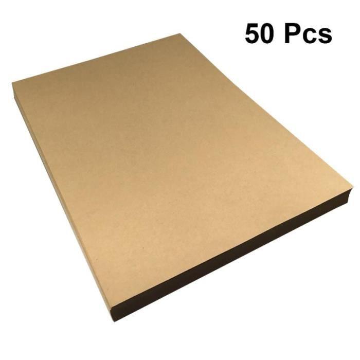 50 feuilles 21x29cm A4 Papier kraft à lettres rétro à vintage Papeterie (Poids 120g) PARTITION