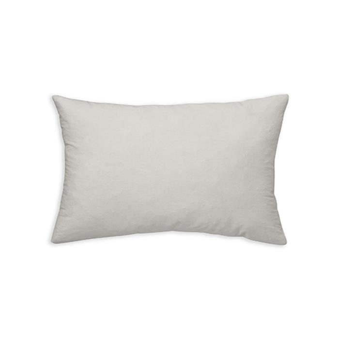 TODAY Coussin déhoussable 100% coton - 30 x 50 cm - Ivoire