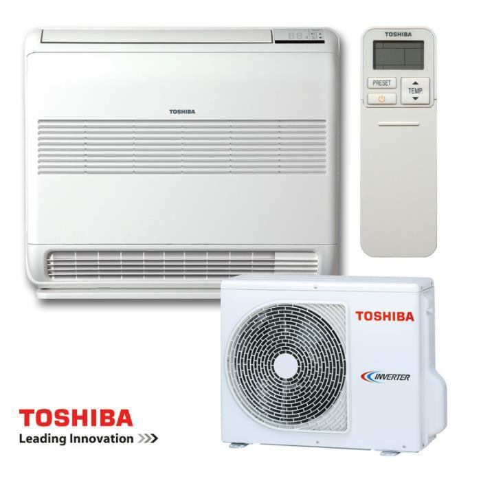 Climatiseur Console TOSHIBA BI-FLOW RAS-B18U2FVG-E1 - RAS-18PAVSG-E 5000W A+-A