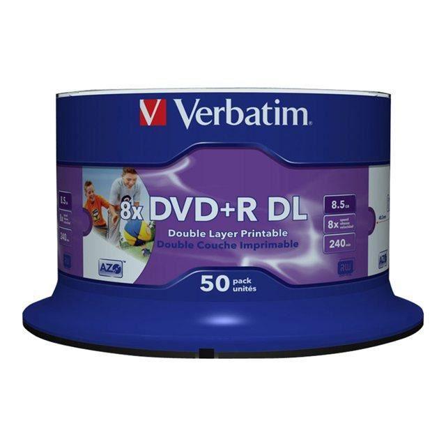 Verbatim - 43703 - Lot de 50 DVDR 8x