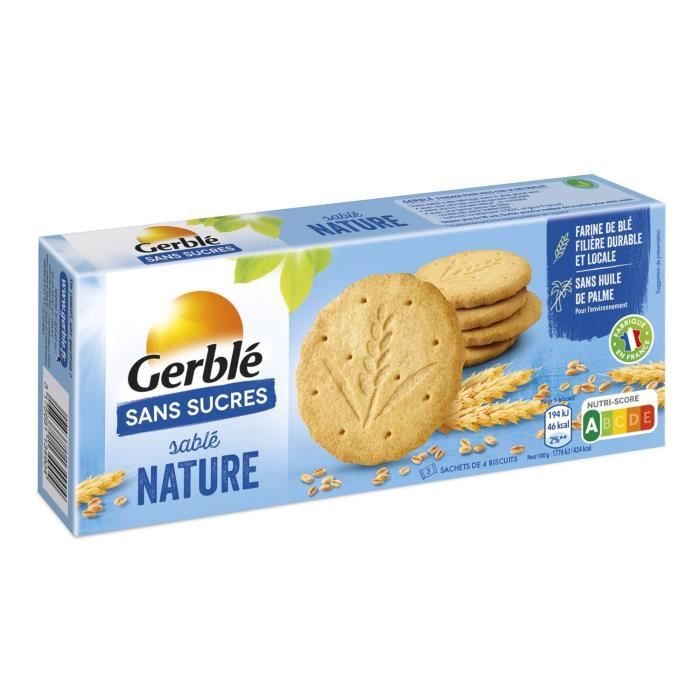 GERBLE Biscuits sablés nature - 132 g