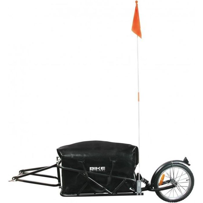 Rouge-Remorque-vélo-mono roue avec sac remorque pour vélo poussette