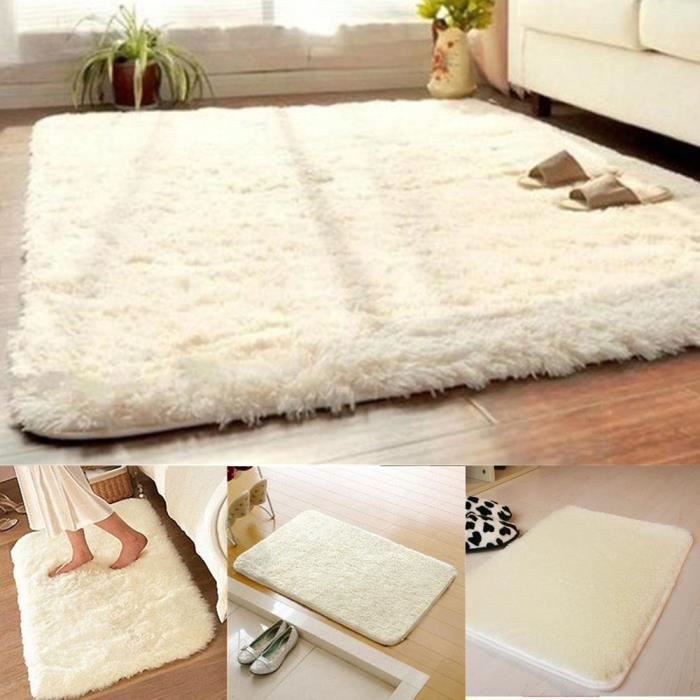 latest cm antidrapant tapis salon salle de bain chambre shaggy tapis en laine beige with tapis. Black Bedroom Furniture Sets. Home Design Ideas