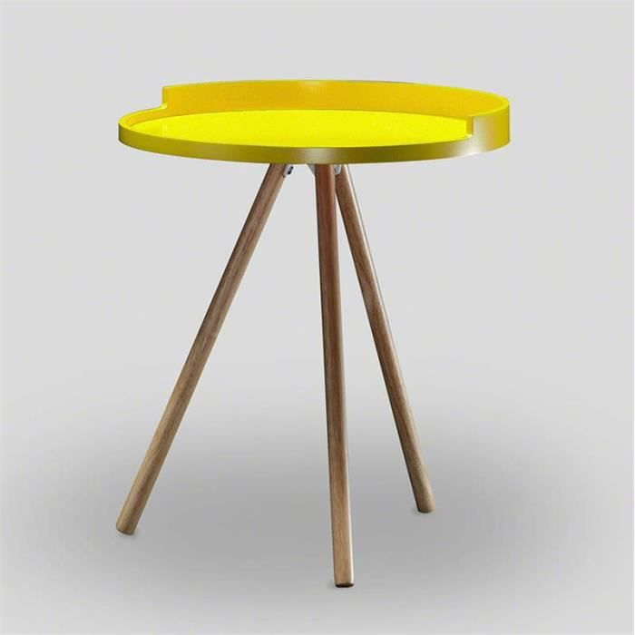 Table d 39 appoint scandinave jaune achat vente table d - Table d appoint scandinave ...