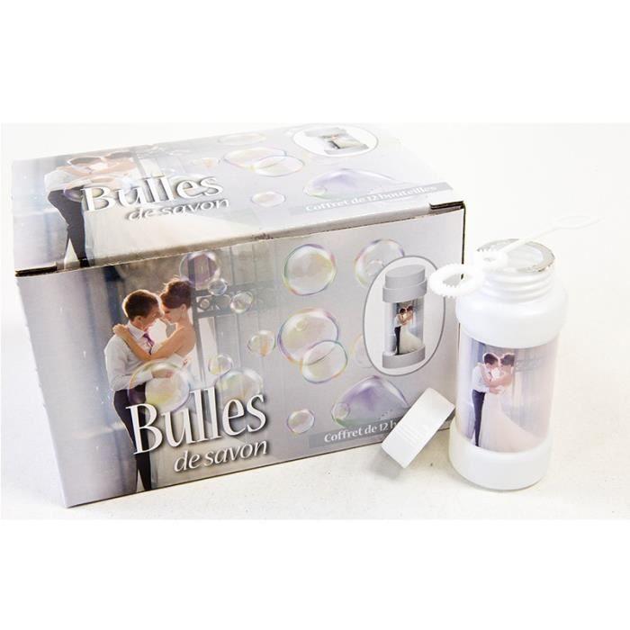 12 Pièces bulle bouteille vide savon tube en forme de cœur mariage fête en plein air jeu jouet
