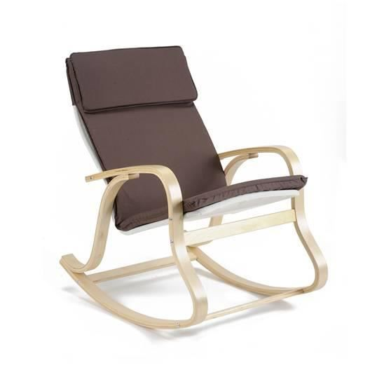 rocking chair benny chocolat achat vente fauteuil marron cdiscount. Black Bedroom Furniture Sets. Home Design Ideas