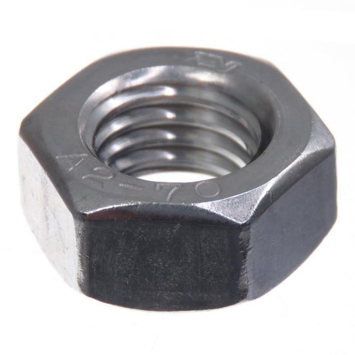 10 pcs hexagonal écrous forme plate 8 mm DIN 439 m8 Acier Inoxydable v2a