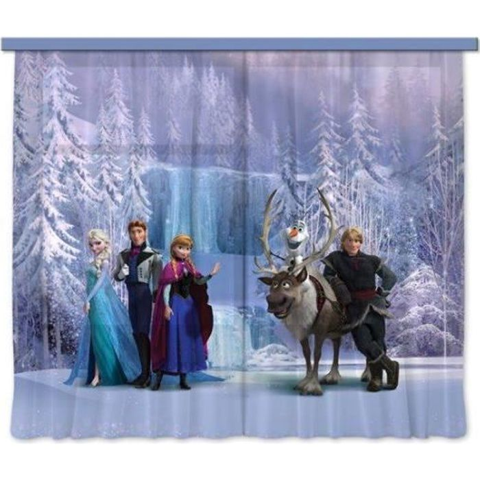 disney frozen la reine des neiges rideau voilage pour la. Black Bedroom Furniture Sets. Home Design Ideas