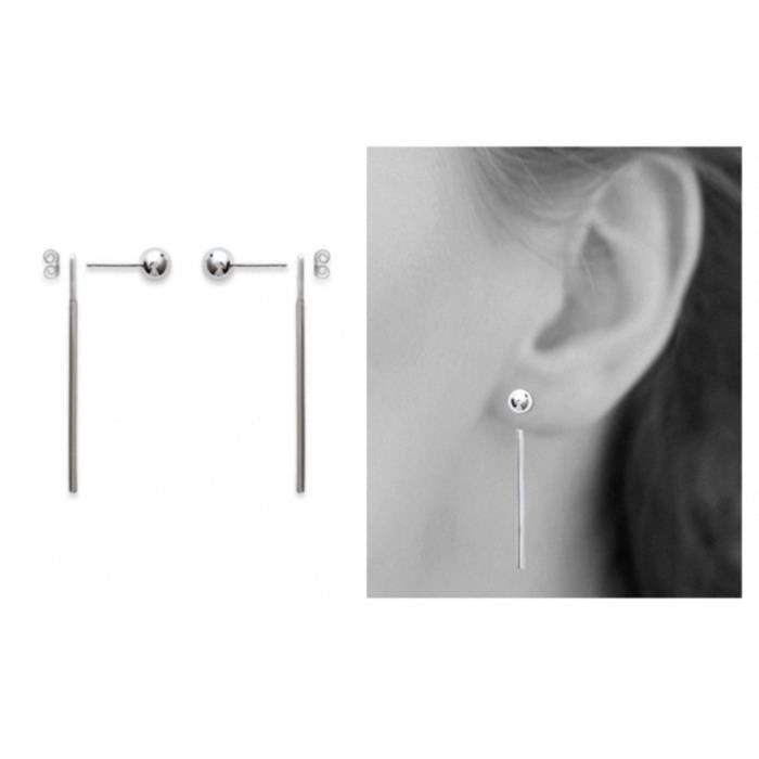 Une paire crochets pour boucles d/'oreilles argent massif 925 dormeuses pendante