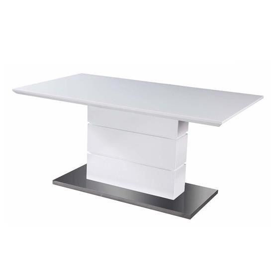 Table salle a manger design elyane blanc composition for Table salle a manger bois blanc