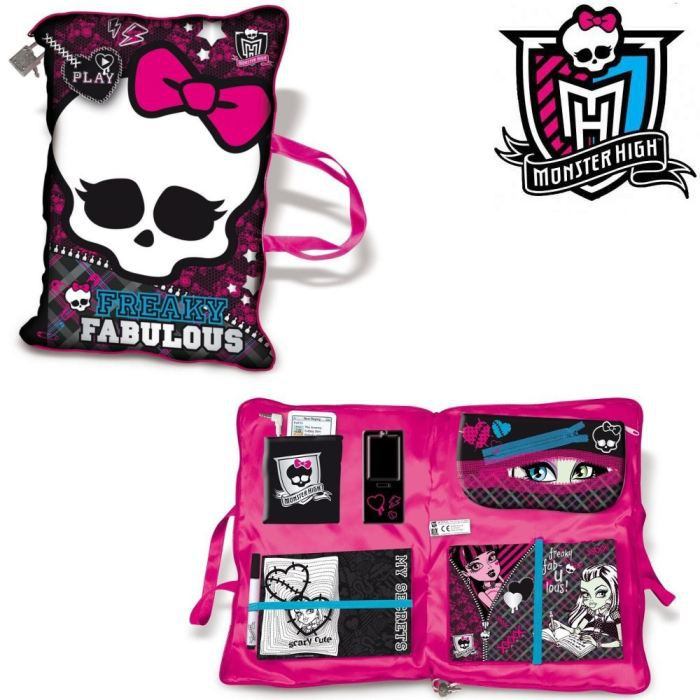 CARNET DE NOTES Monster High - Coussin Secret + Accessoires