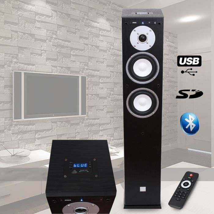 colonne hifi amplifiee usb sd bluetooth 13cm 40w enceinte colonne avis et prix pas cher. Black Bedroom Furniture Sets. Home Design Ideas