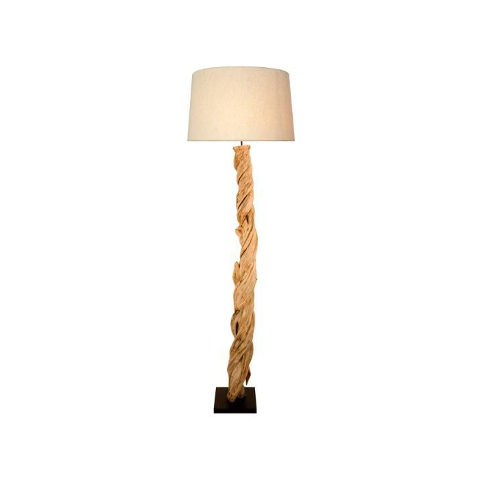 lampe sur pied fire 185cm en bois flott achat vente. Black Bedroom Furniture Sets. Home Design Ideas