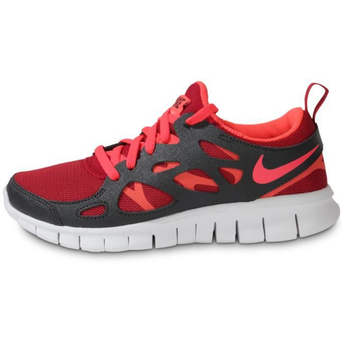 super popular b9a78 11891 BASKET Running Free Run 2 Rouge Et Noir Enfant