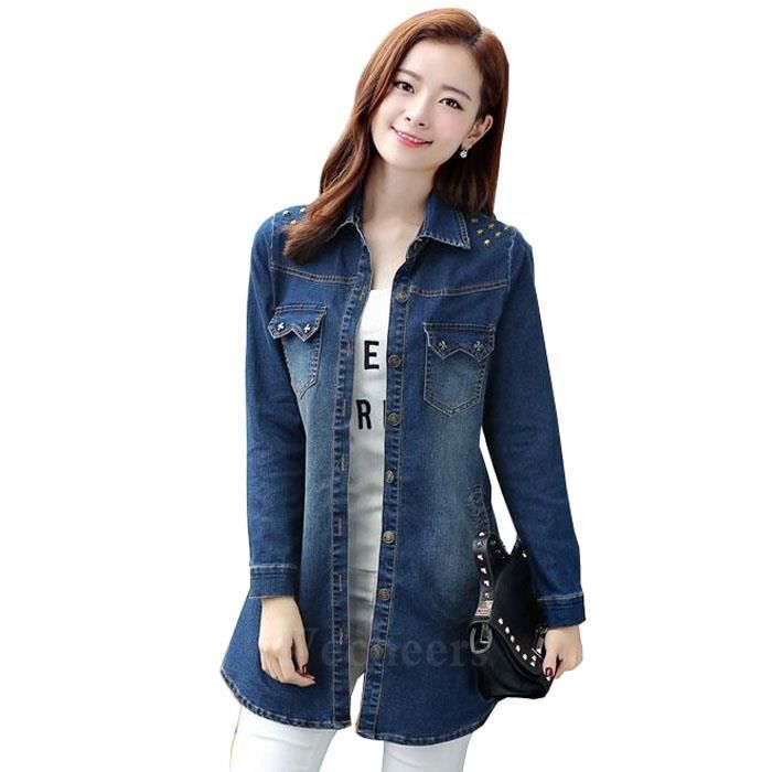 femmes jean veste court ventre nu manches longues jeans bleu en image achat vente veste. Black Bedroom Furniture Sets. Home Design Ideas