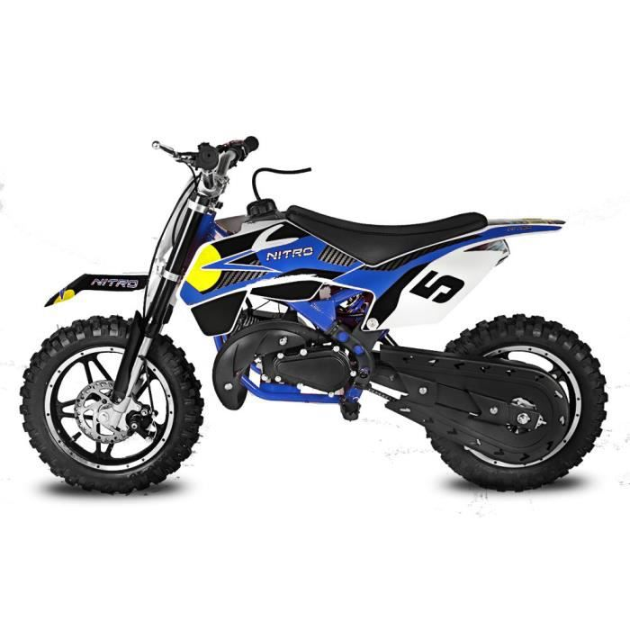 mini moto cross 49cc bull bleu achat vente moto mini moto cross 49cc bull b les soldes. Black Bedroom Furniture Sets. Home Design Ideas