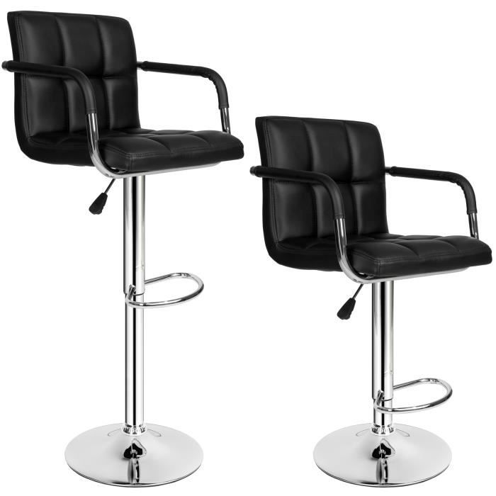 Tabouret de bar lot de 2 tabouret de bar design chaise - Tabouret de bar cdiscount ...