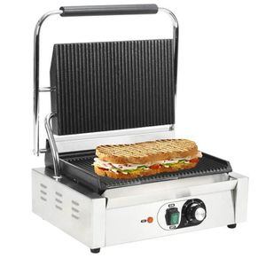 GRILL ÉLECTRIQUE Cent Grill rainuré pour panini 2200 W 44 x 41 x 19