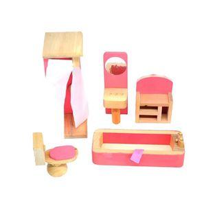 Maison de poupées Slim Or Manteau Horloge Miniature Living Salle à Manger Accessoire