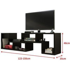 MEUBLE TV Meuble 3 en 1 BILING multifonctionnel noir